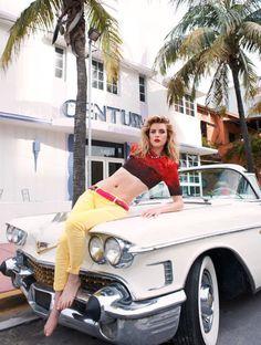Julia Frauche Soaks Up the Sun for Eric Guillemains Vogue Brazil Shoot