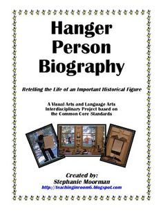 Hanger Person Biography Project...your kids will LOVE it!  All the writing is scaffolded to help your students create a wonderful writing piece, with a fun way to display it!