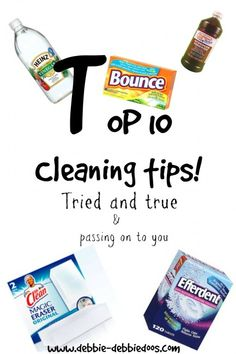 Top 10 cleaning tips that really do work - Debbiedoo's