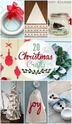 20 Christmas Crafts - Super cute crafts from wreaths to ornaments and everything in between! { lilluna.com }