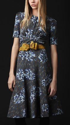 FLORAL PRINT OTTOMAN DRESS