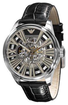 Emporio Armani Leather Strap Watch - $395.00