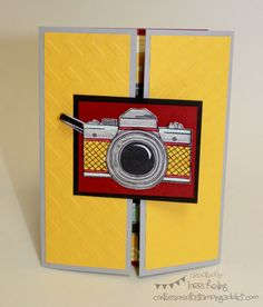 Interactive Camera Shutter Card :: Confessions of a Stamping Addict Lorri Heiling Snapshot