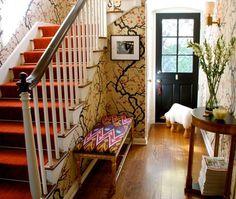 Chinoiserie Entryway   photo Lisa Borgnes Giramonti   House & Home
