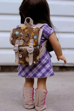 American Girl Doll Free Backpack Pattern