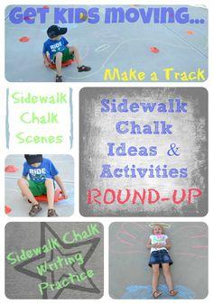 Sidewalk Chalk Ideas & Activities ROUND-UP! {In Lieu of Preschool} #linky #pinterest
