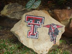 Texas Tech Red Raiders Hand Painted Decorative Yard/Garden Rock on Etsy, $30.00