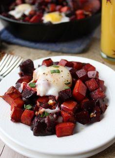 beet and sweet potato hash