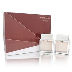 Euphoria Men by Calvin Klein 2 Piece Set Includes: 3.4 oz Eau de Toilette Spray + 3.4 oz After Shave Pour (Glass Bottle)