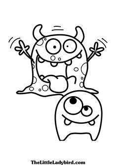 Coloring Page of Monsters