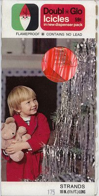 Vintage Christmas Ornament ~ Doubl*Glo Orange Icicles ©1960