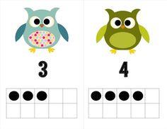 ten frame, owl theme, tâche