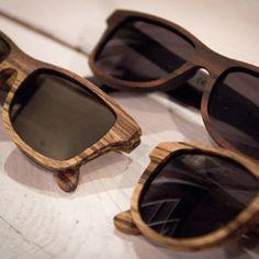 Natural design - wooden sunglasses.