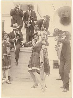 The Colored Idea Band of Sonny Clay arrives in Sydney, 1928 / Sam Hood by State Library of New South Wales collection, via Flickr