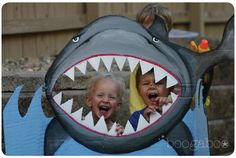 Shark photo prop for an Under the Sea #birthday party