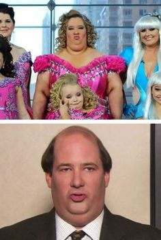 honey boo boo's momma = kevin malone. OMG