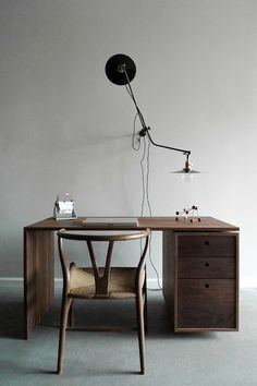 This  is the type of simple desk I would love to use for the computer.