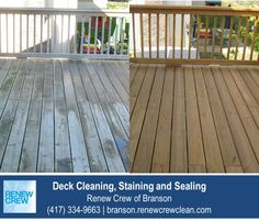 http://www.renewcrewclean.com/services/wood-deck-pressure-washing – The uneven colors and surfaces of this elevated deck are uniform and vibrant after Renew Crew of Branson's proprietary deck cleaning and staining process. We serve Branson and surrounding areas. Free estimates.