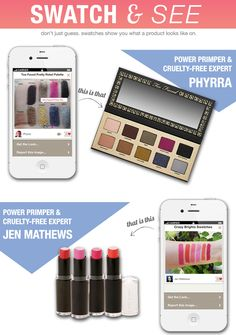 Cruelty Free Makeup Looks via @pretty things in my Pocket - From @Phyrra and @MyBeautyBunny Jen Jen