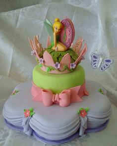 tinkerbell cakes and cupcakes, tinkerbel cake, cake tinkerbell, bridal shower cakes, birthday cakes
