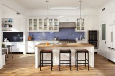 Using lots of tile in the kitchen is a great way to add style and functionality.