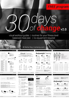 No equipment 30 day workout program - Imgur What a great plan with each exercised pictured. My NEW 30 day challenge series.
