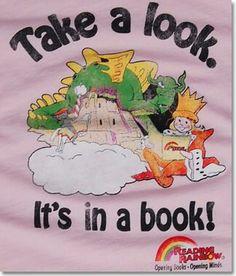 Reading rainbow - yeah...I'd wear that.