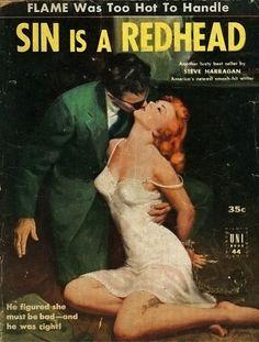 """""""Sin is a Redhead"""" ~ 1952 reprint of """"Redhead Rhapsody""""."""