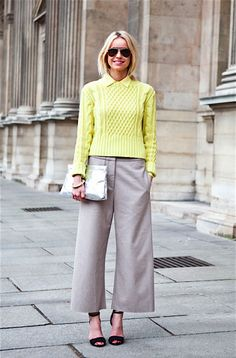 Love the tonal color + sweater