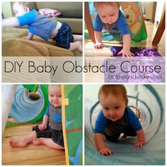 Baby Obstacle Course - tips for setting up an obstacle course for your baby or toddler