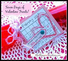"CUTE! ""A Treat a Day"" Valentine with Free Printable 
