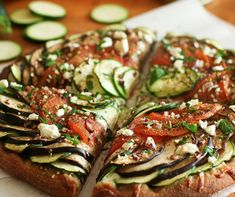 Ratatouille pizza!