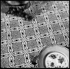 Puritan Crocheted Tablecloth free pattern