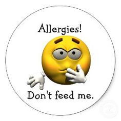 Personalized allergy stickers for every allergy. (also has templates to make your own)