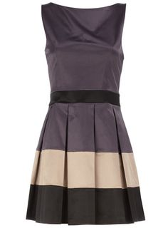 color block pleated dress by dorothy perkins.