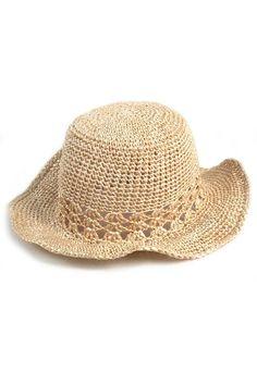 Sombrero Tejido Crochet - - Sombreros - Almacen de Belleza