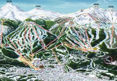 Look at all the ski runs at Breckenridge, Colorado ski resort!