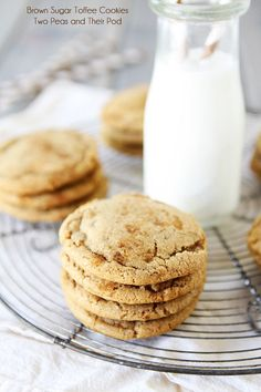 Brown Sugar Toffee Cookies - from @Maria Canavello Mrasek (Two Peas and Their Pod)