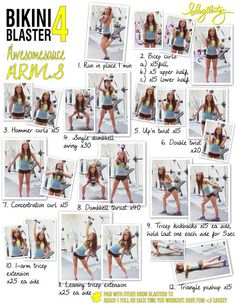Bikini Blaster 4 (AWESOMESAUCE arms) by Blogilates.