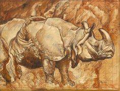 Frank Brangwyn: Rhinoceros study