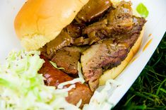 Barbecue Beef Sandwiches Crock Pot Recipe - 9 Point Value - LaaLoosh