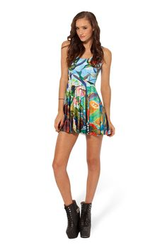 Birds In Paradise Reversible Skater Dress by Black Milk Clothing $85AUD