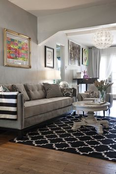 house tours, craftsman houses, living rooms, couch, rug, color schemes, white rooms, sear craftsman, live room
