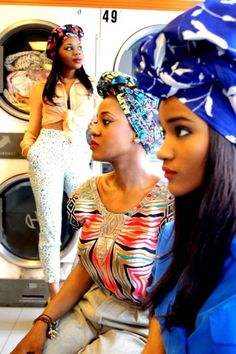 yessir   headwrap at the laundry   why not?