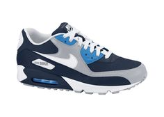 Nike Air Max 90 Men's Shoe - Obsidian/White-Wolf Grey/Photo Blue