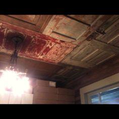 Old doors on ceiling