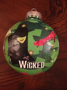 wicked playbill ornament