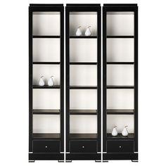 Black and white Delaney Veneer Solids Bookcase/Hidden Feature - Arteriors