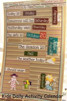 Daily Calendar Kids can do
