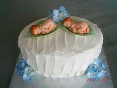 babi cake, shower cake, twin babies, uniqu cake, baby cakes